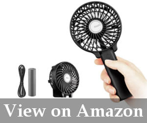 rechargeable handheld fan reviews