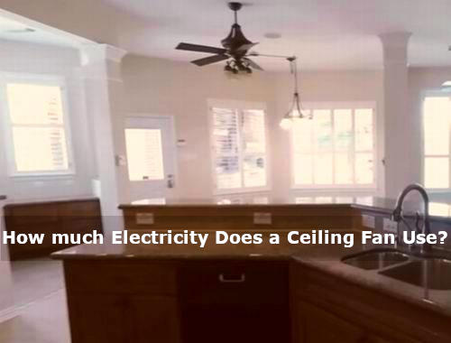 how much electric does a ceiling fan use